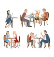 Set of people in a cafe vector image