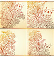 spring cards with floral pattern vector image