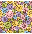 Funny pattern with spirals on a white background vector image