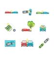 Cartoon Car Crash Set Different Variants Accidents vector image