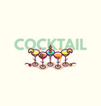 summer cocktails flat icon vector image