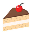 piece of cake flat icon food and drink vector image