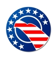 Patriotoc American emblem or badge vector image vector image