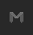 Monogram logo lettering letter M design business vector image