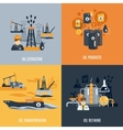 Oil Industry Flat Icon vector image