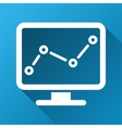 Trend Monitoring Gradient Square Icon vector image
