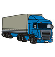 Blue long semitrailer vector image