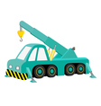 car crane blue vector image
