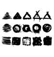 collection of grunge handrawn stamps vector image