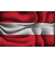 crumpled flag of Austria vector image