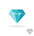 Diamond logo Blue diamond symbol Jewellery shop vector image