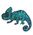 Hand-drawn chameleon vector image