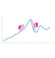 Hand drawn funny Graph vector image
