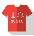 I love music icon vector image