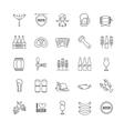 Oktoberfest thin line icons vector image