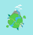 planet earth nature conservation concept vector image