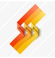 Ribbon origami vector image
