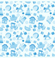 seamless pattern with baby boy toys vector image