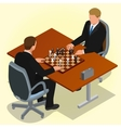 Two CEO playing chess using businessman Business vector image