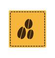 yellow emblem grains coffee icon vector image