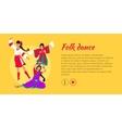 Folk Dance Conceptual Flat Style Web Banner vector image