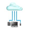 Cloud Store data upload vector image