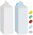 Paper pack for milk or juice vector image vector image