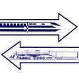 Railway transport vector image vector image