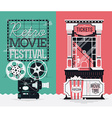 Retro Movie Banner Set vector image