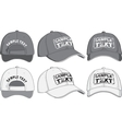 Baseball cap front back and side view vector image