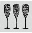 Champagne New Years lettering vector image