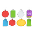 sale tags blank color empty shopping vector image