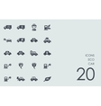 Set of eco car icons vector image