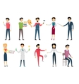 Set of School Teacher Characters vector image