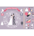 Wedding infographics setRetro bridegroomicons vector image