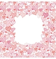 Valentines Day Frame With Hearts Seamless Pattern vector image vector image