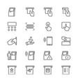 kiosk thin icons vector image vector image