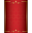 red elegant card with gold decorations vector image