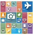 Flat design interface icon set 4 vector image vector image