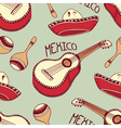 Hand drawn mexican seamless pattern with sombrero vector image vector image