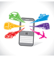 different transport for online booking concept vector image