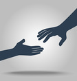 hands in flat style vector image