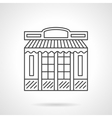 Chocolate shop facade flat line icon vector image