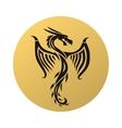 Golden dragon fly vector image