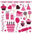 pink decorations vector image