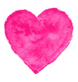 Pink Watercolor Heart vector image