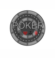 poker casino chip vector image