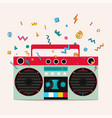 retro stereo cassette player vector image
