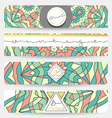 Set of 4 banner Mandala geometric pattern vector image