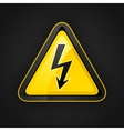 voltage warning sign vector image